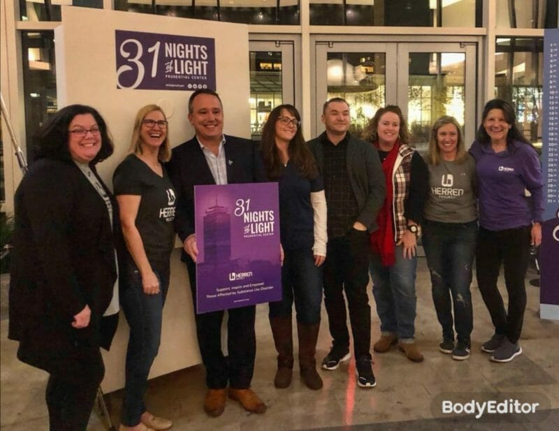 Herren Project raising awareness on the disease of addiction at 31 Nights of Light 2019 Boston