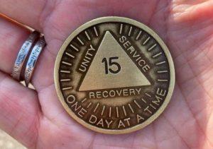 15 year sobriety medallion
