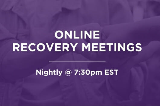 Online Recovery Meetings