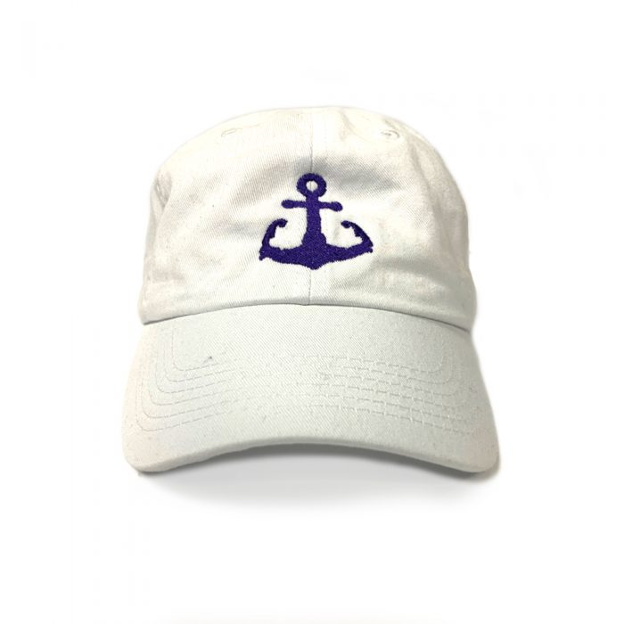 White Cape Cod Anchor hat