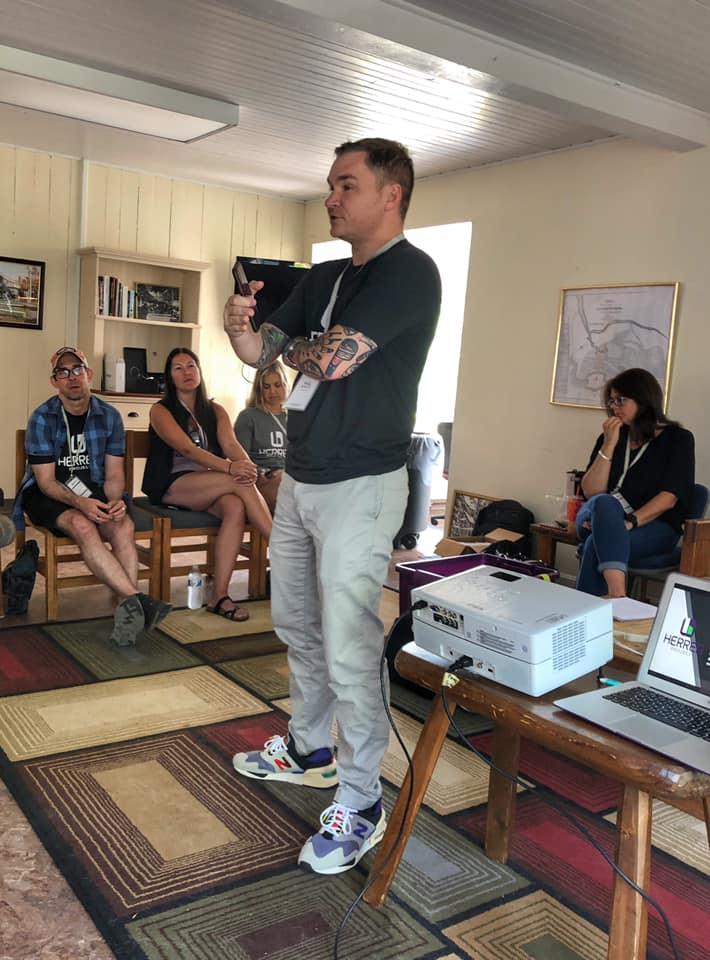 Paul White speaks at Herren Project Ambassador Retreat 2019