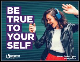 herren project club be true to yourself dancing girl poster