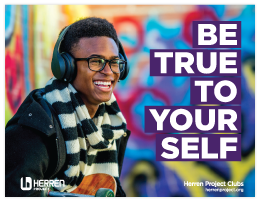 herren project club be true to yourself music guy poster