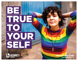 herren project club be true to yourself poster