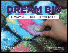 herren project clubs dream big elementary poster