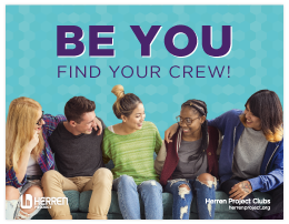 herren project club be you find your crew poster