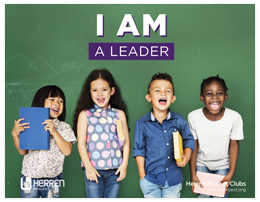 herren project club i am a leader elementary poster