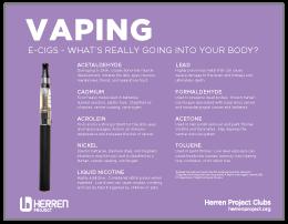 herren project club vaping poster