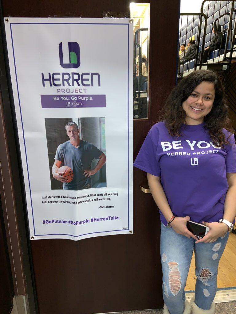 Putnam Academy high school Chris Herren Project clubs go purple