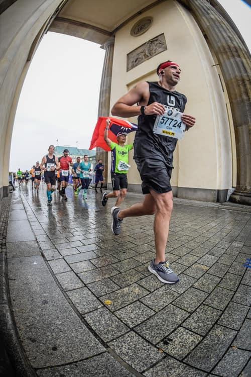 Raising funds for substance use disorder Berlin Marathon