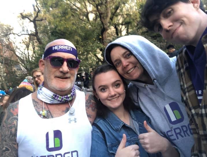 Walter Smith running NYC Marathon for Herren Project