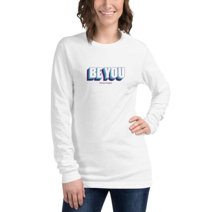 unisex long sleeve tee white front 611fb49eaea86
