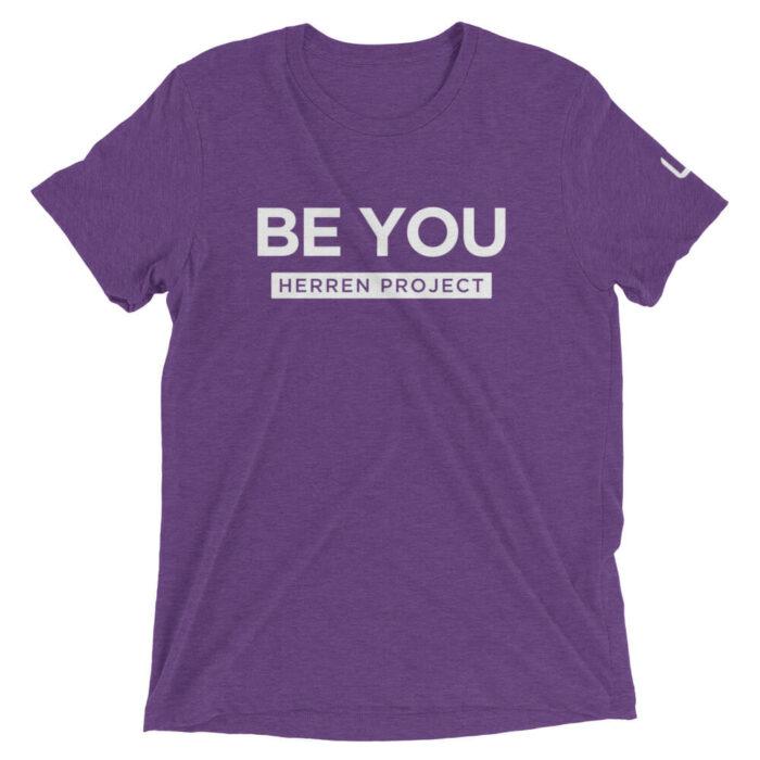 unisex tri blend t shirt purple triblend front 611fbdb877301