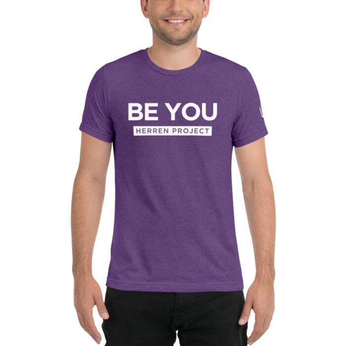 unisex tri blend t shirt purple triblend front 611fbdb8776d2