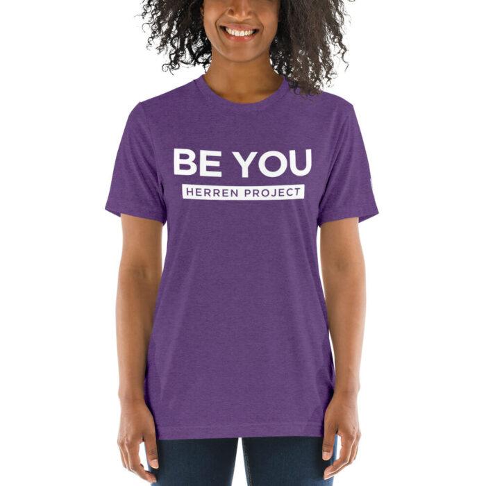 unisex tri blend t shirt purple triblend front 611fbdb8778d0