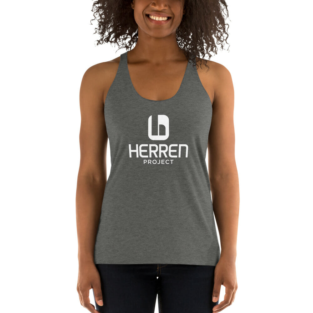 womens racerback tank grey triblend front 60ed93273a254
